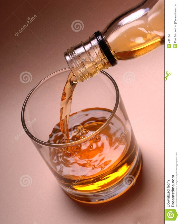 Pouring Whiskey Glass Stock - 487134