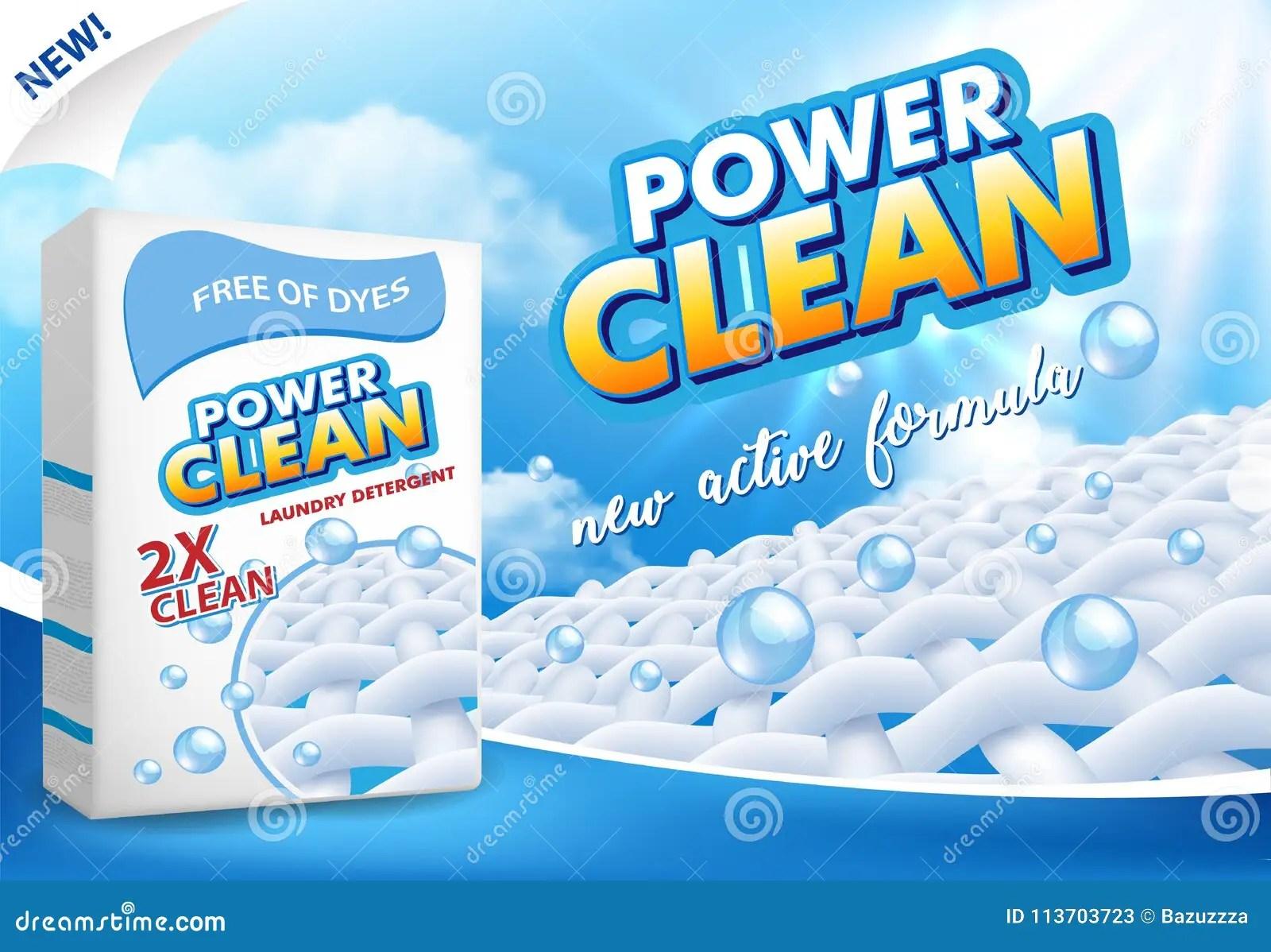 powder laundry detergent advertising