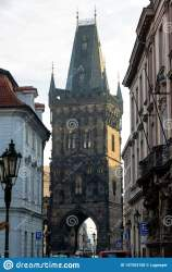 The Powder Tower Or Powder Gate Is A Gothic Tower In Prague Editorial Stock Photo Image of culture medieval: 147203158
