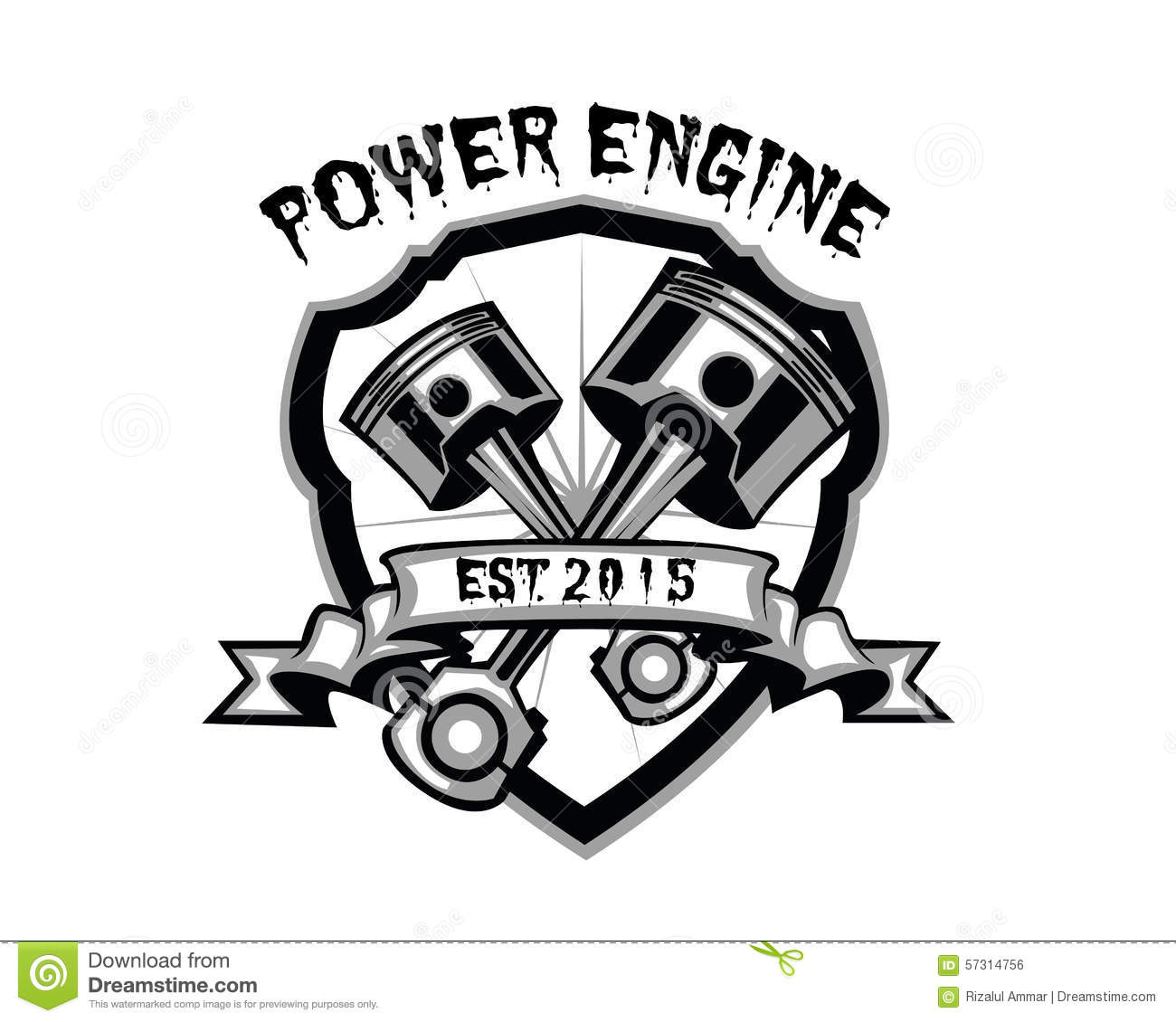 Power Engine Stock Illustration Illustration Of Emblem