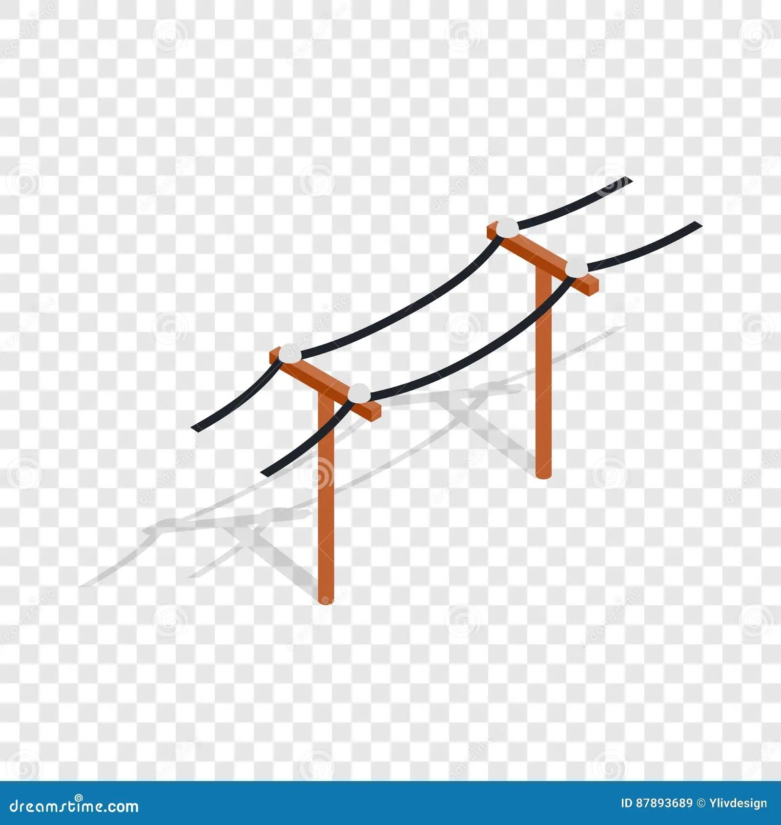 Power Line Isometric Icon Stock Vector Illustration Of