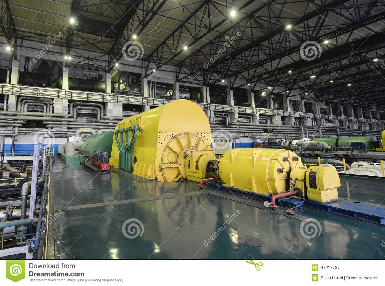 Power Plant Electric Generator Stock Image  Image of