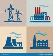 Power Plant Set Stock Vector - 44229380