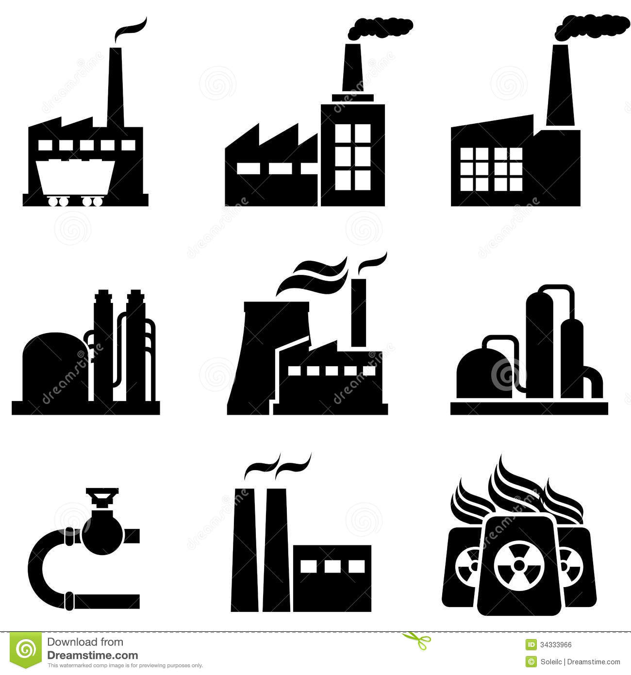 Power Plants Factories And Industrial Buildings Stock