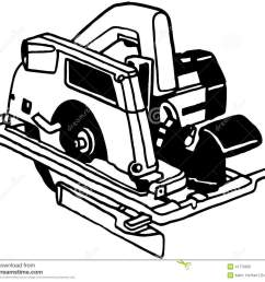 power saw tool cartoon vector clipart [ 1300 x 1146 Pixel ]