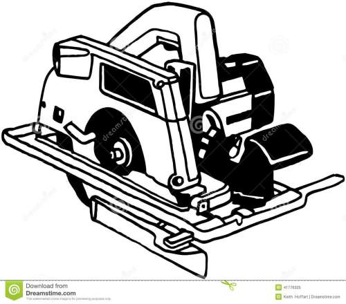 small resolution of power saw tool cartoon vector clipart