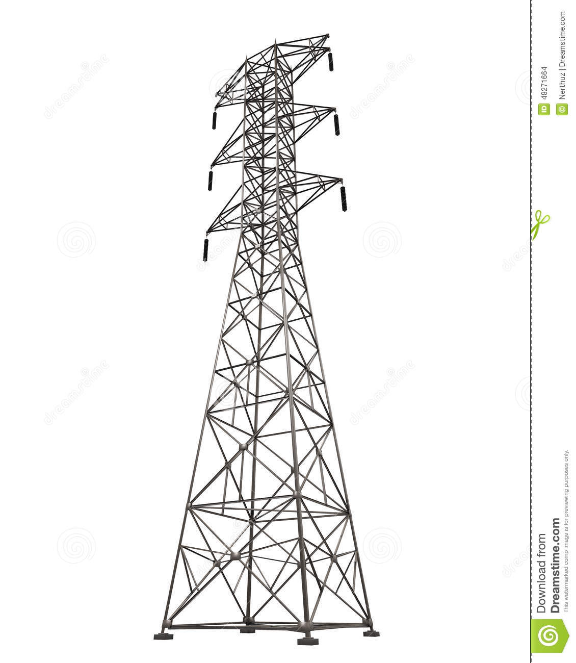 Power Transmission Tower Stock Illustration