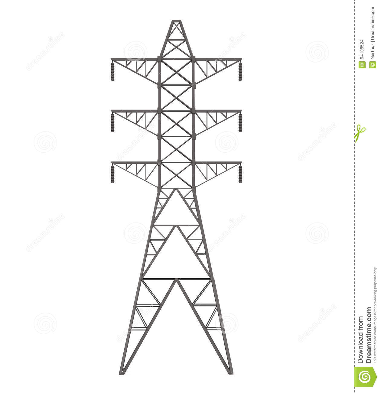Power Transmission Tower Stock Illustration Illustration
