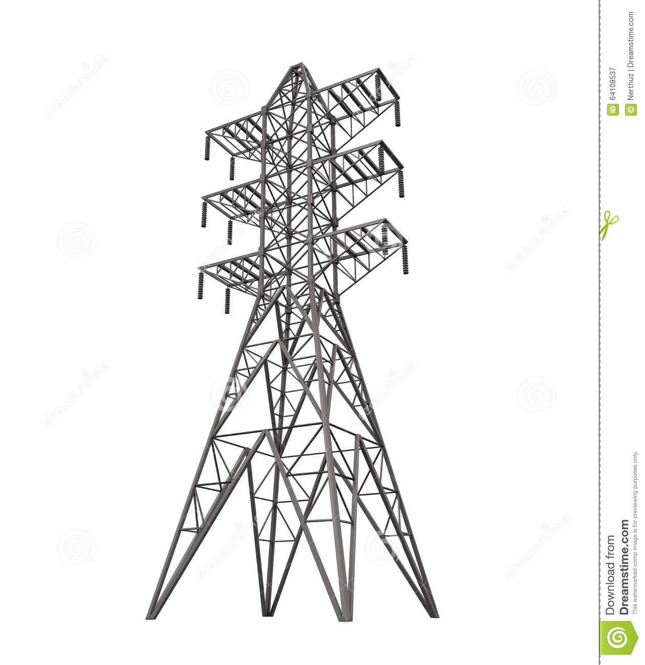 Power Transmission Tower Stock Illustration Illustration Of Electricity