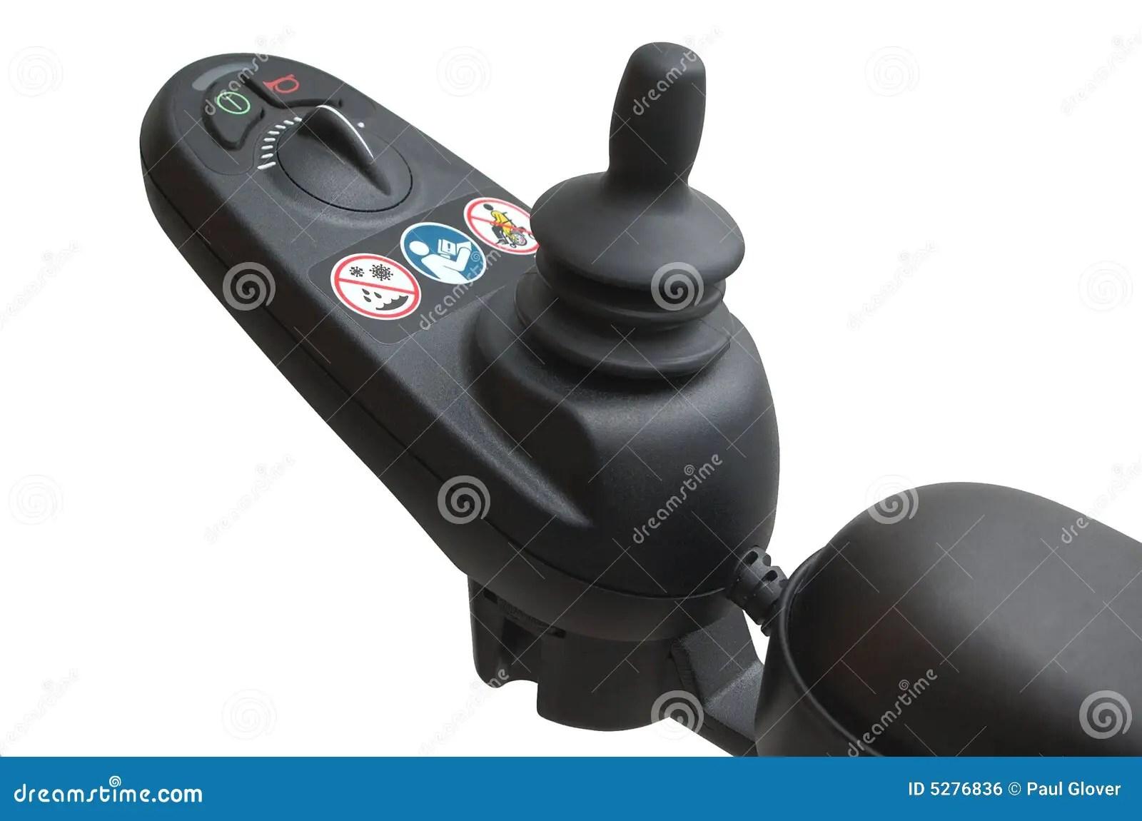 power wheelchair controller clear acrylic swivel chair joystick stock photo image