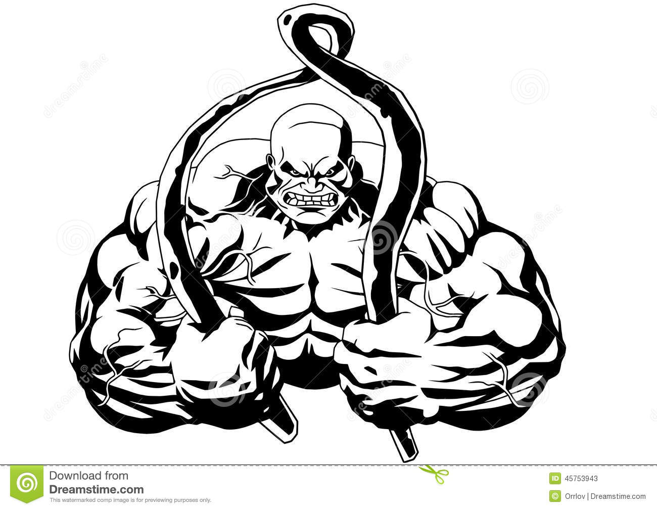 Powerlifting Stock Vector Illustration Of Huge Hand