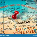 Pushpin Pointing At Valencia City In Venezuela Stock Photo Image Of Locate Maps 169483688