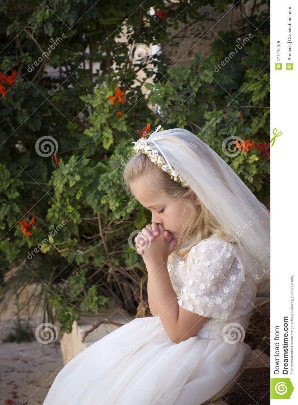 Praying Girl First Holy Communion Royalty Free Stock Images Image 31975759