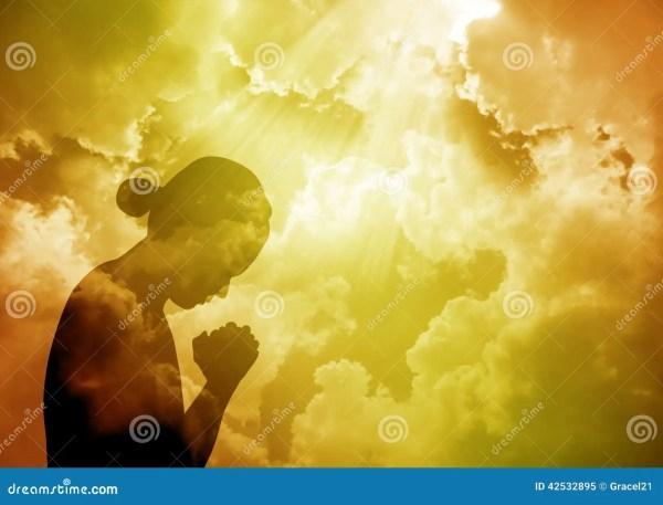 Praying Woman Stock Illustration. Illustration Of Love