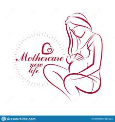 outline pregnant body female mother drawn vector medical gynecology clinic pregnancy prom care