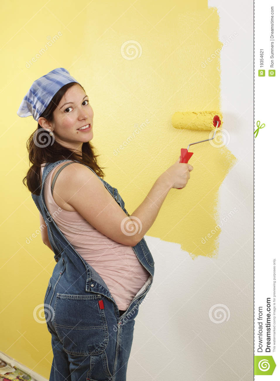 Pregnant Woman Painting Stock Image  Image 19354621