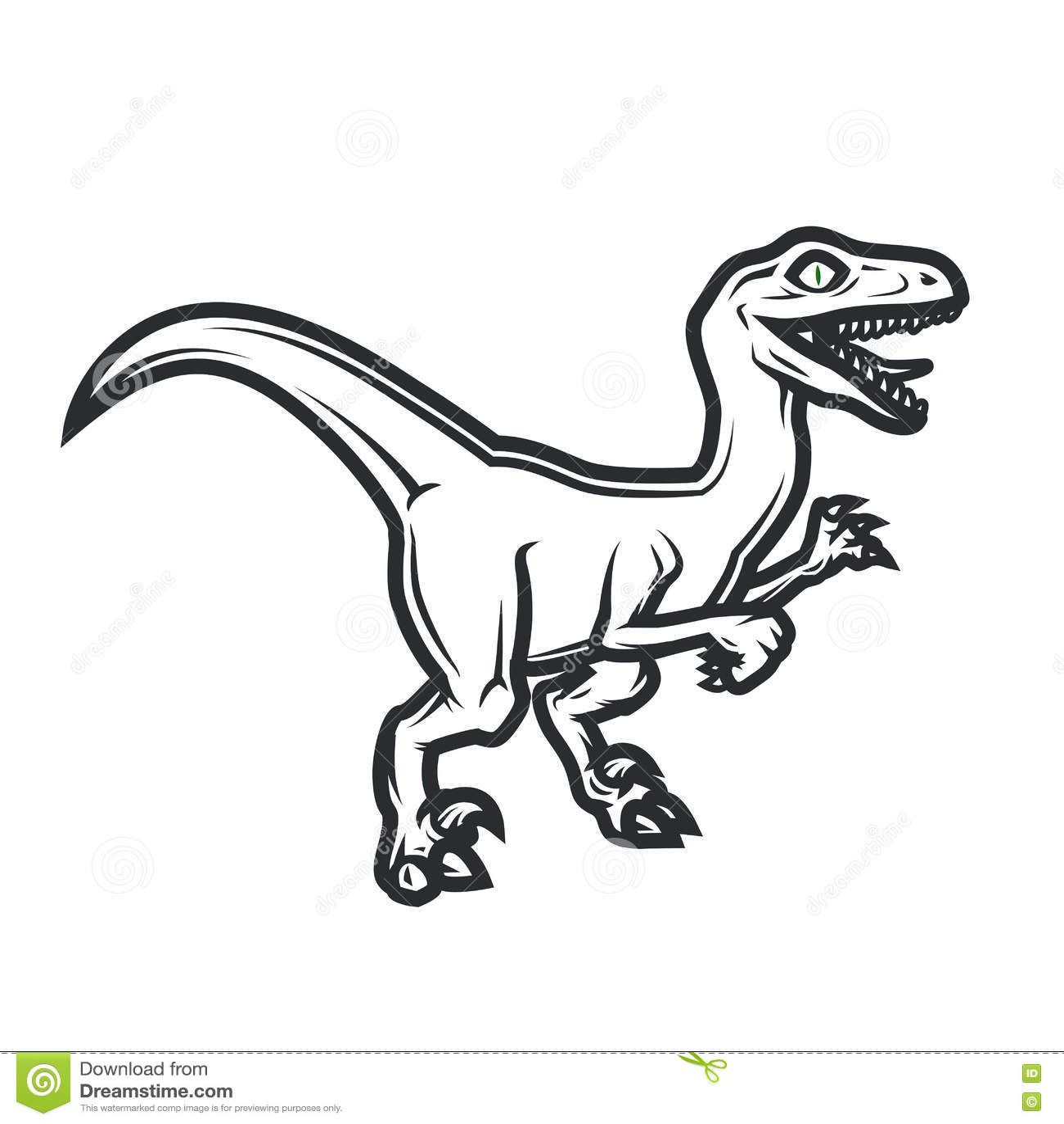 Prehistorical Dino Logo Concept Raptor Insignia Design