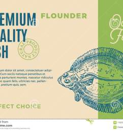 abstract vector fish packaging design or label modern typography and hand [ 1300 x 972 Pixel ]