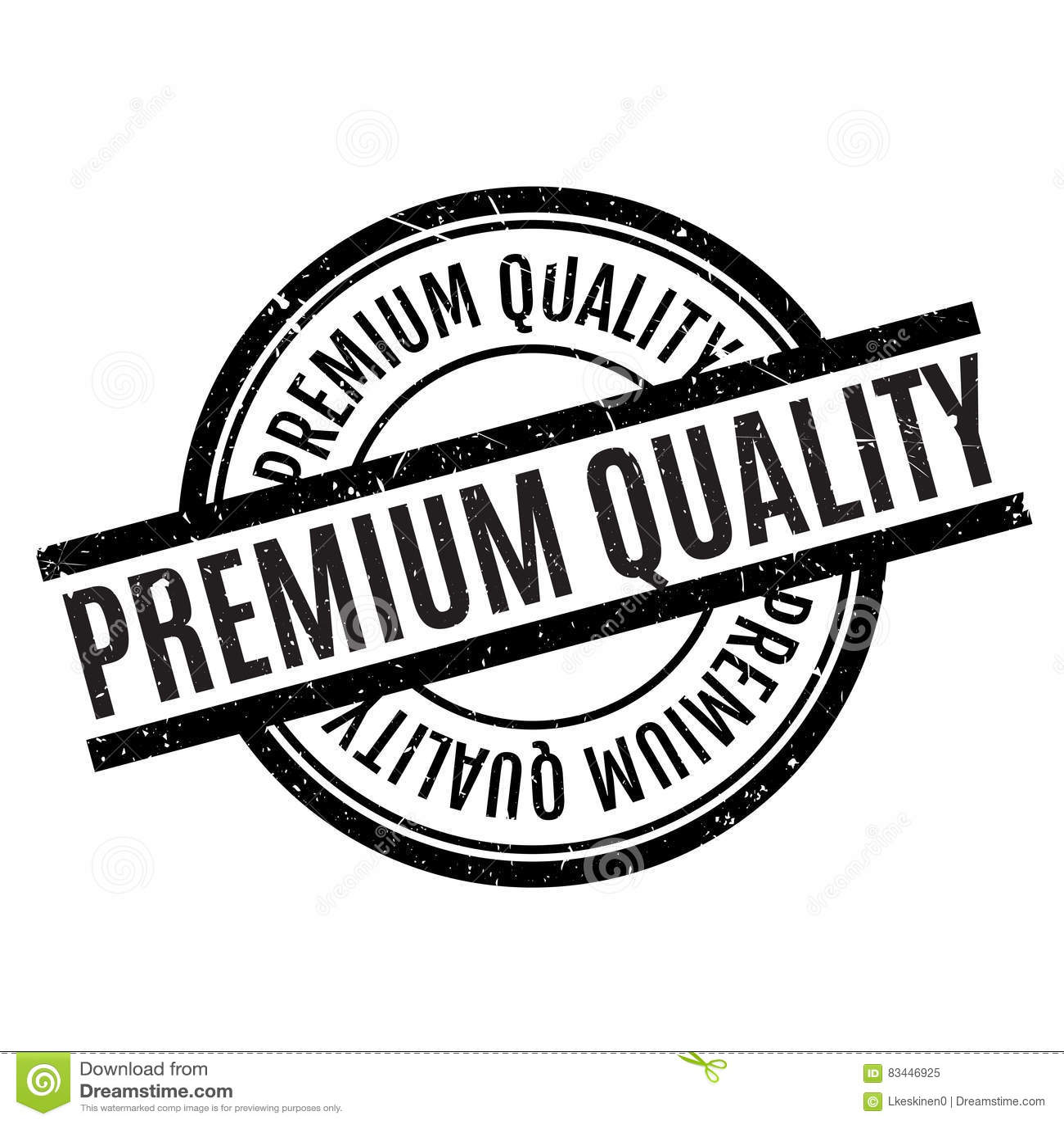 Premium Quality Rubber Stamp Stock Illustration