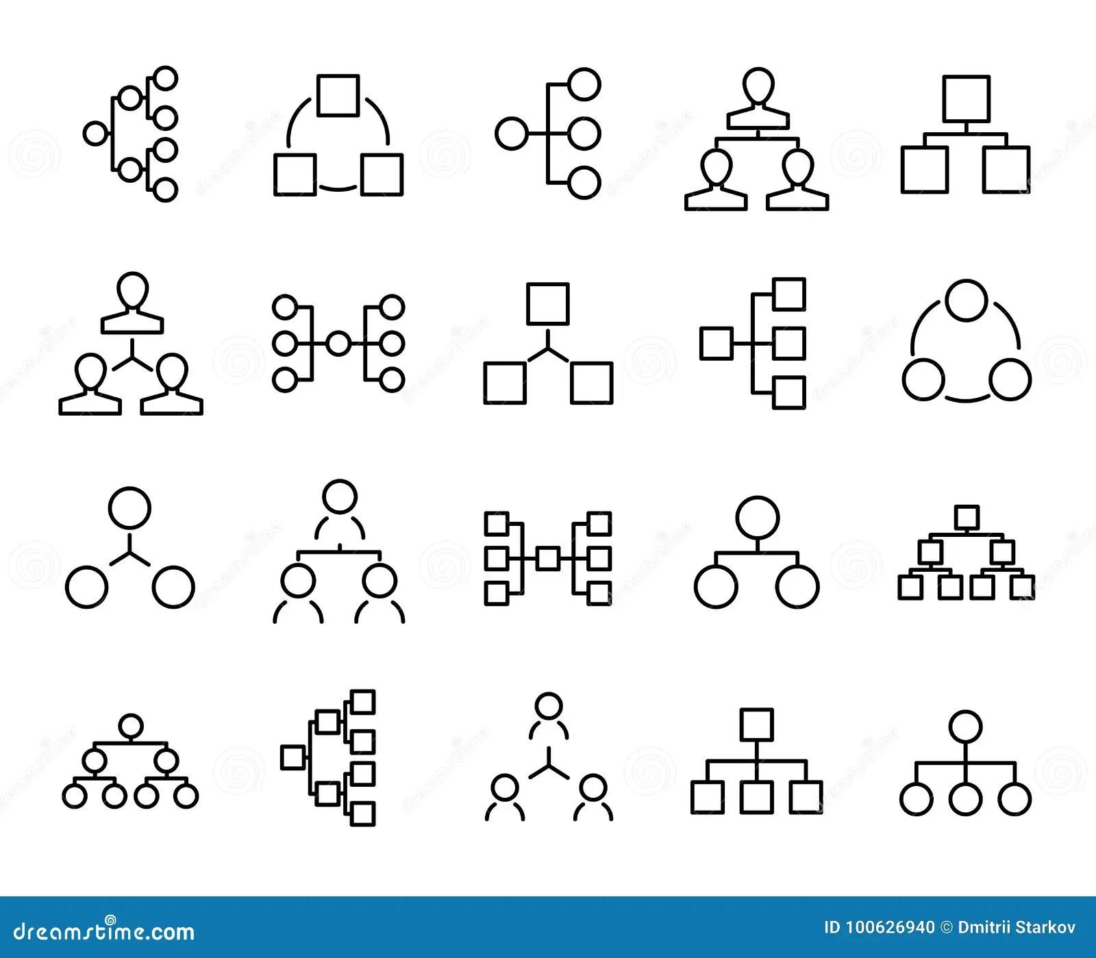 Premium Set Of Hierarchy Line Icons. Stock Illustration