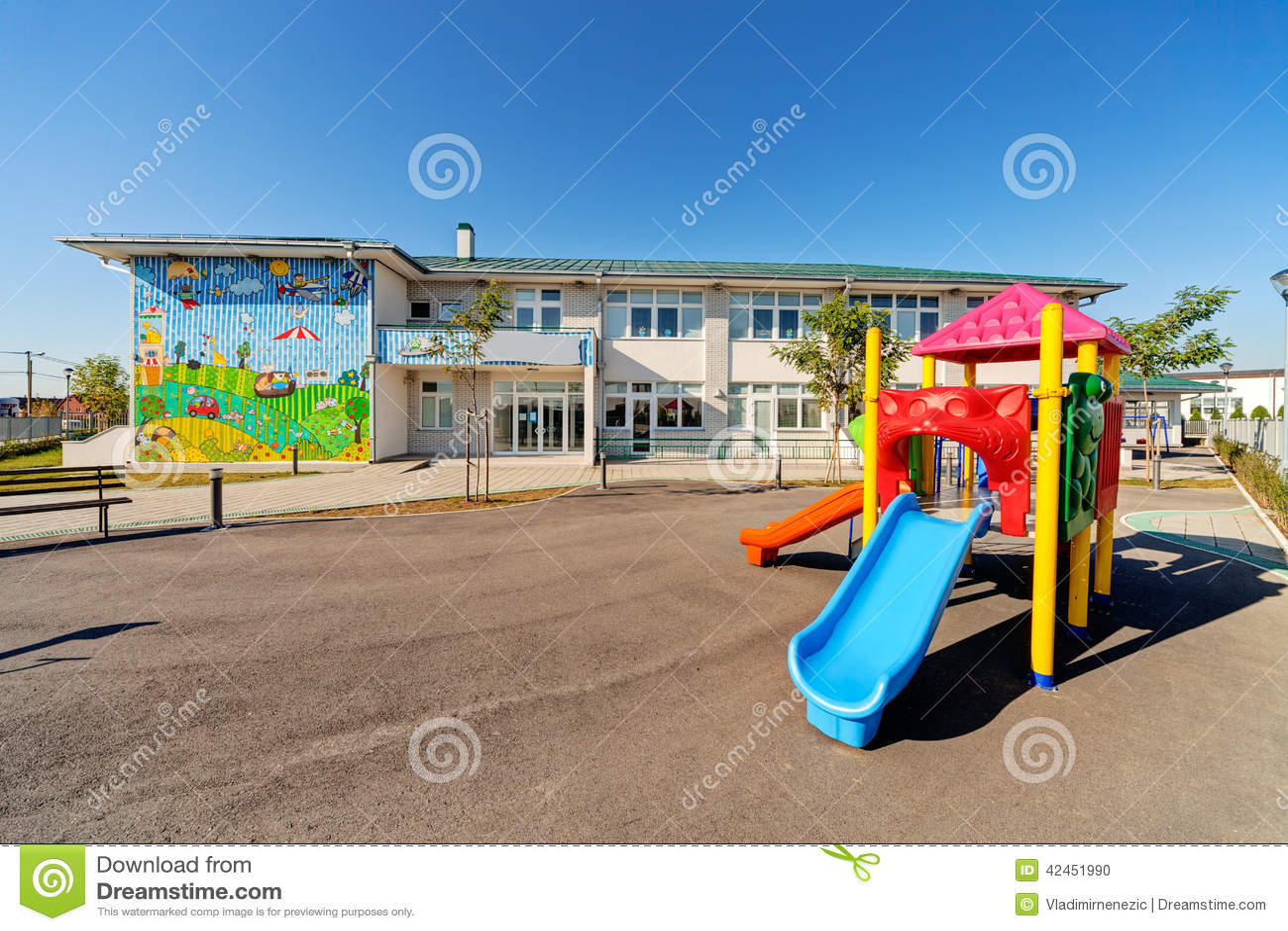 Preschool Building Stock Photo
