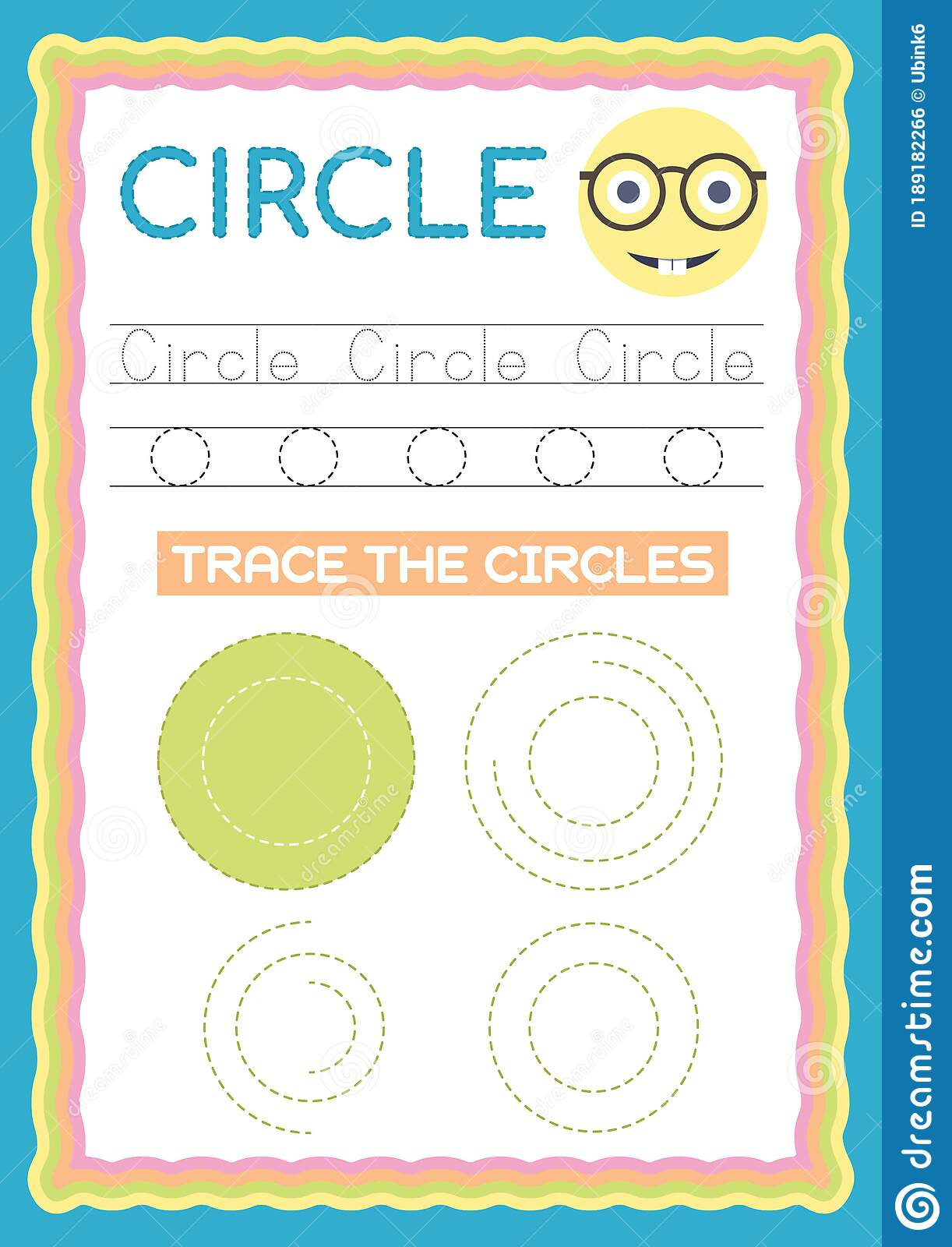 Preschool Colorful Circle Shape Tracing And Writing Daily