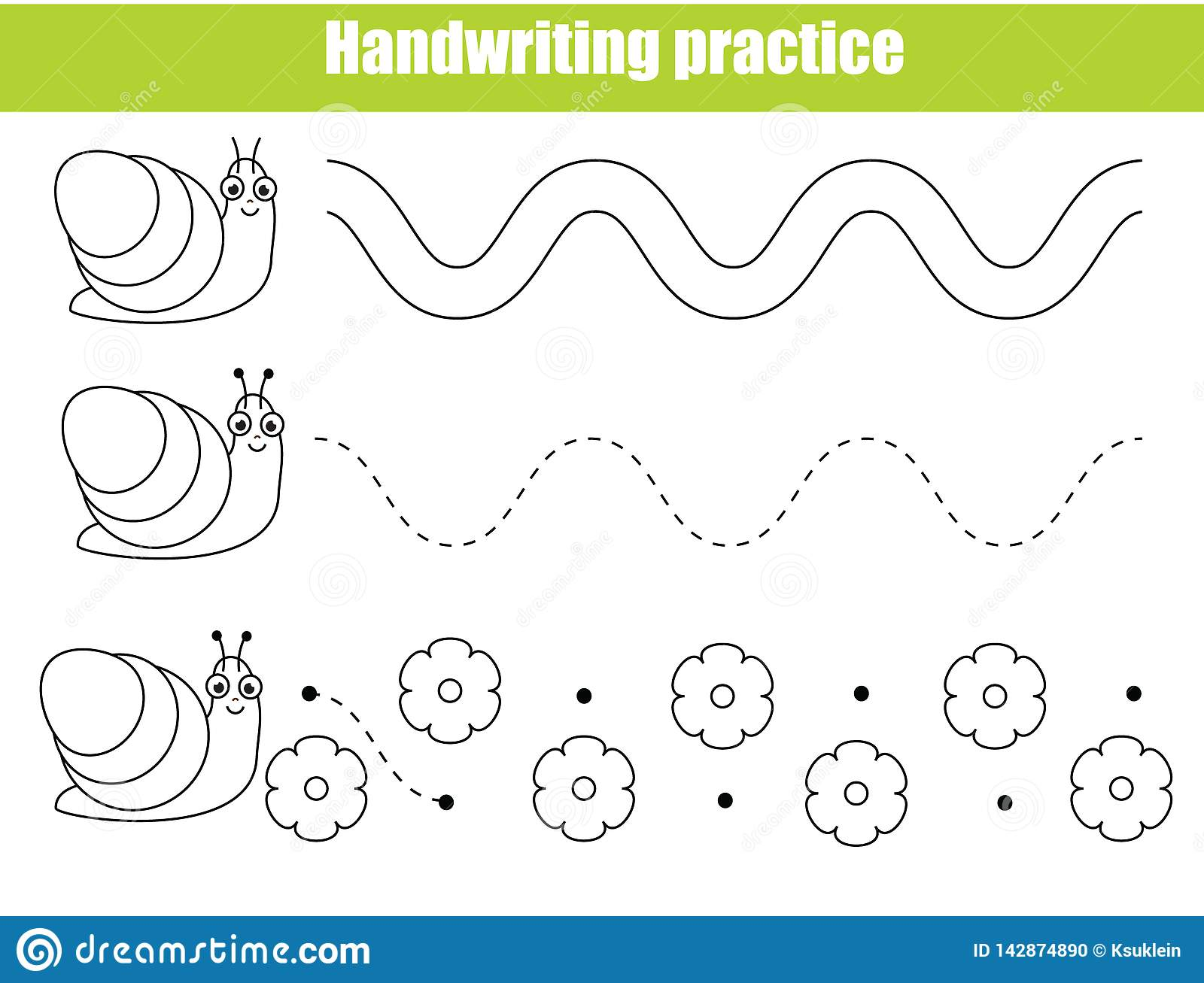 Preschool Handwriting Practice Sheet Educational Children