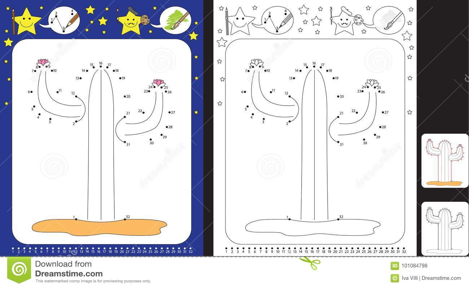 Preschool Worksheet Stock Vector Illustration Of Early