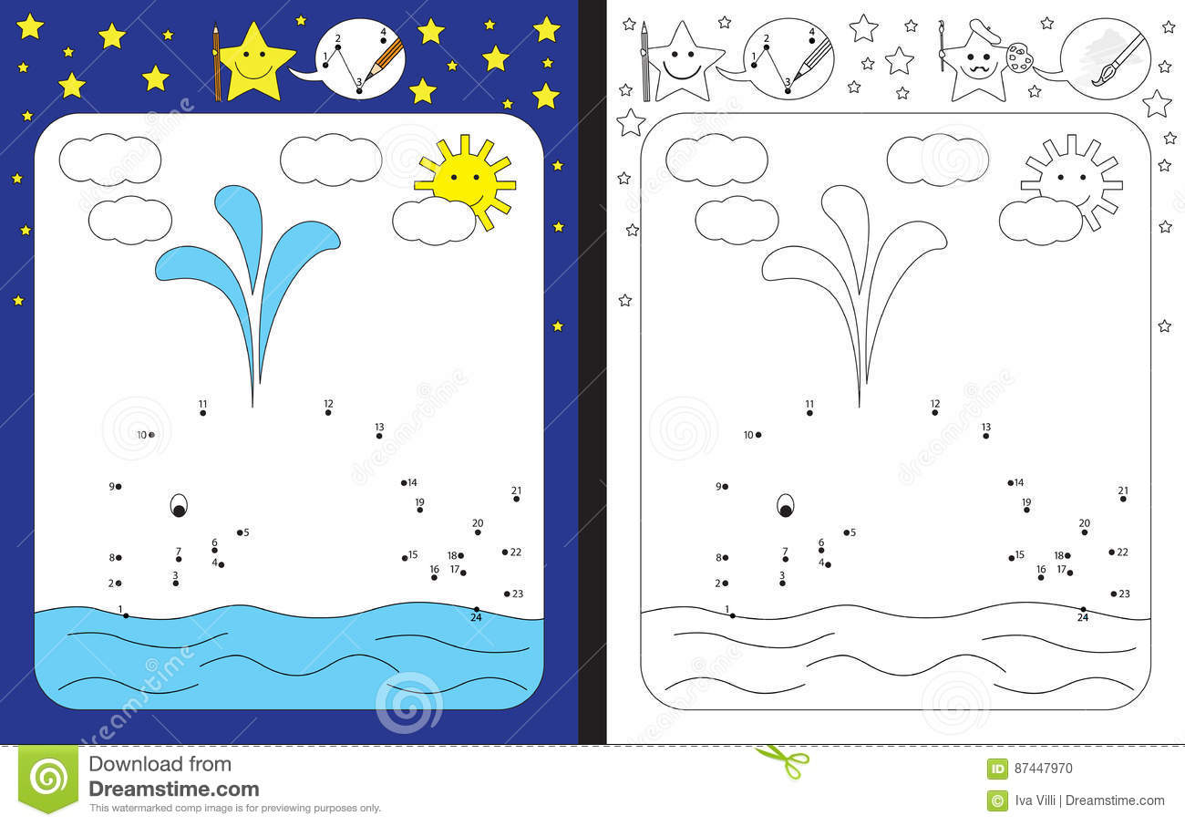 Preschool Worksheet Stock Vector Illustration Of Skills