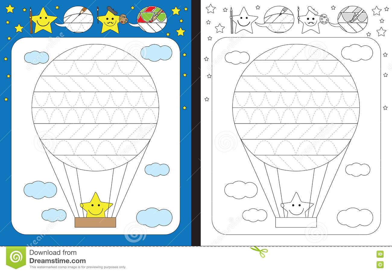 Preschool Worksheet Stock Vector Illustration Of Vector