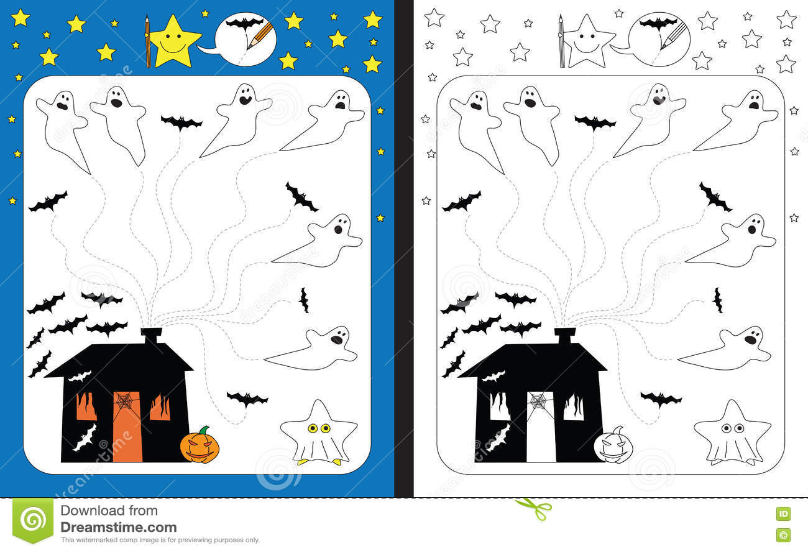 Preschool Worksheet Stock Vector Illustration Of Skills