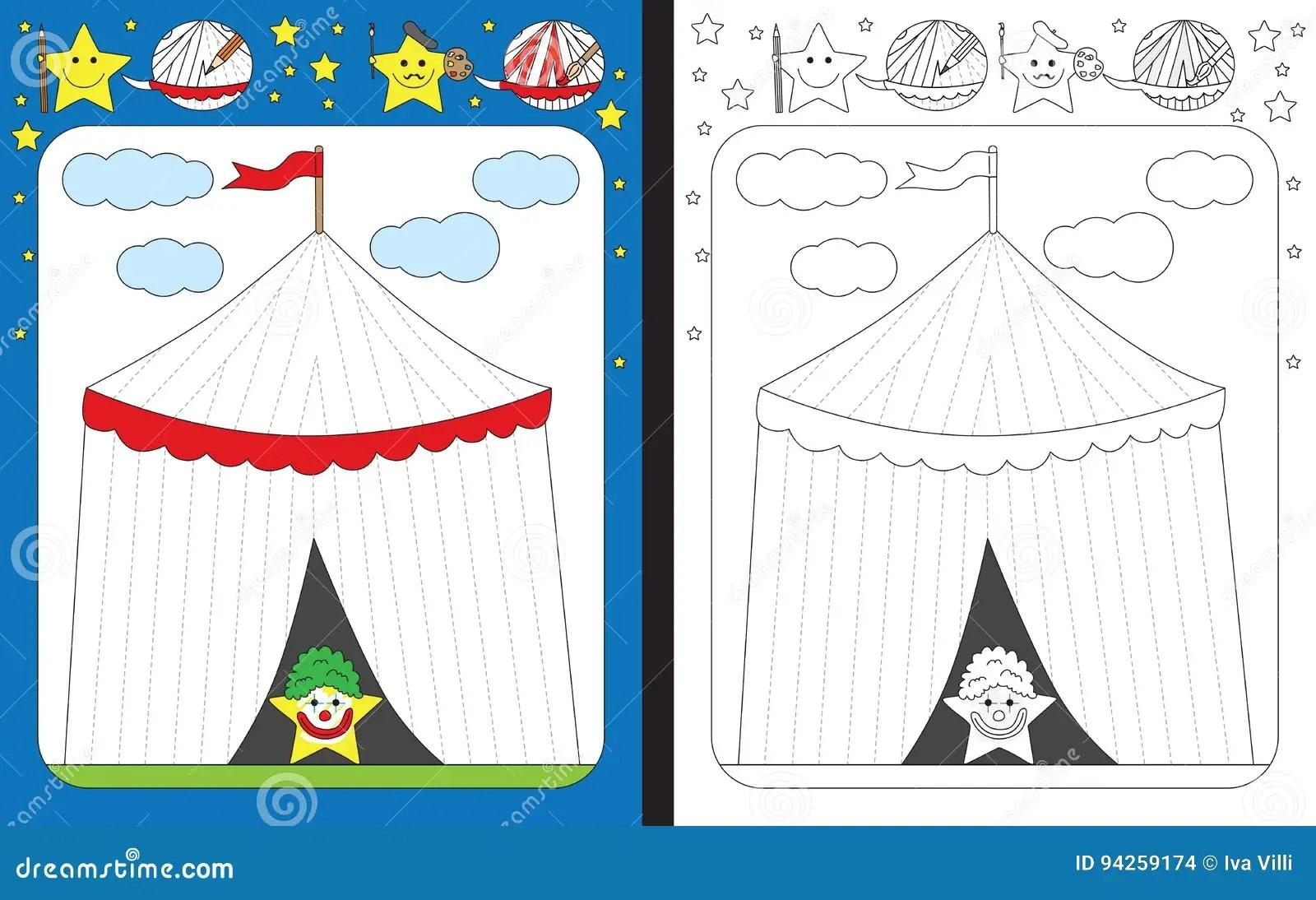 Preschool Worksheet Stock Vector Illustration Of Stripes