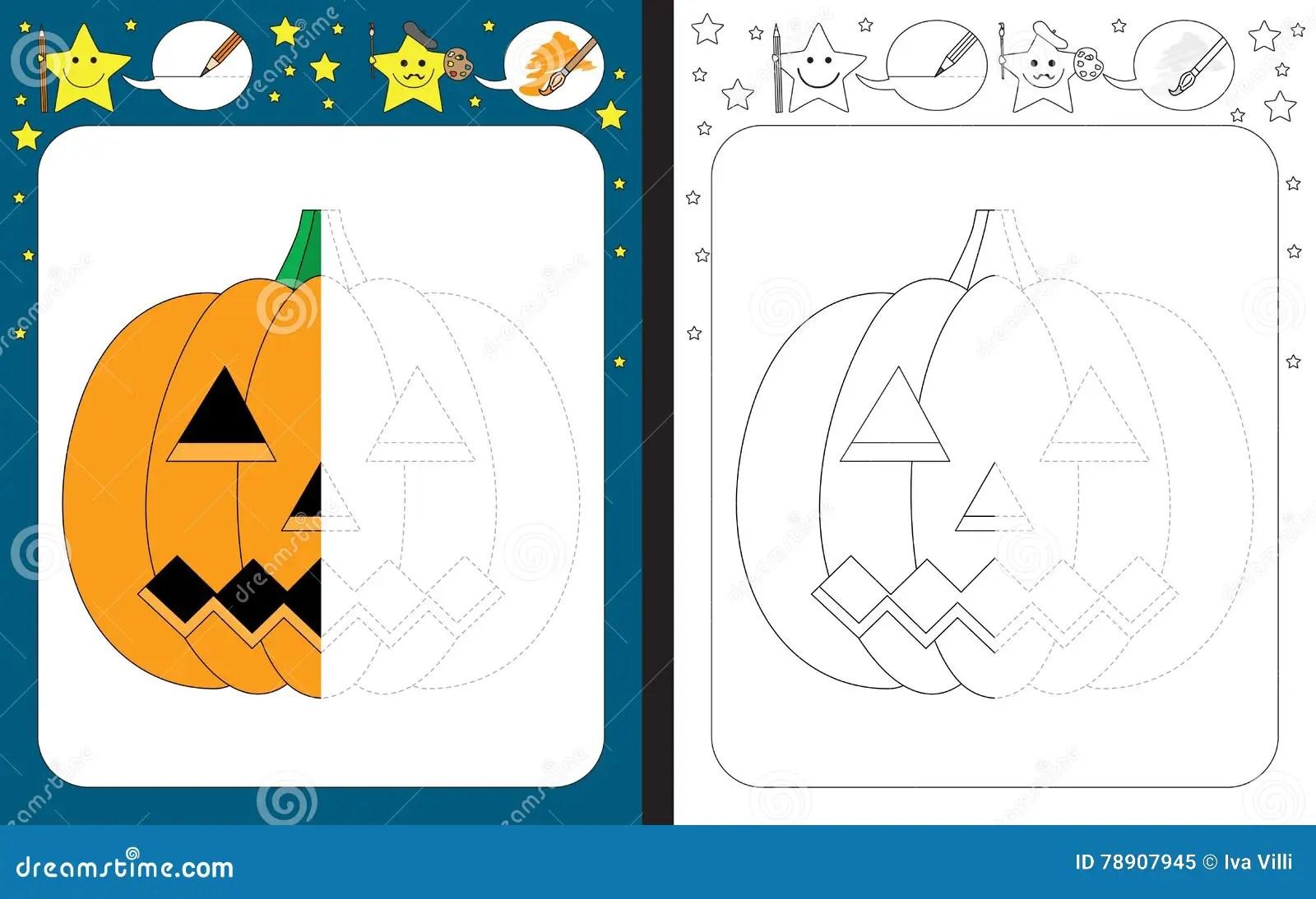 Preschool Worksheet Stock Vector Illustration Of Black