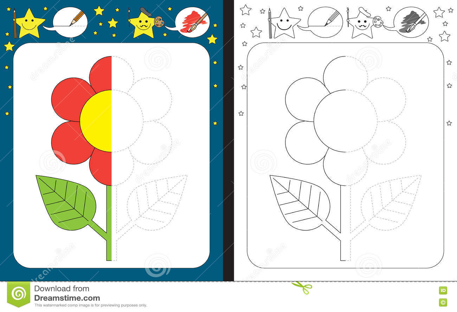 Preschool Worksheet Stock Vector Illustration Of Sheet