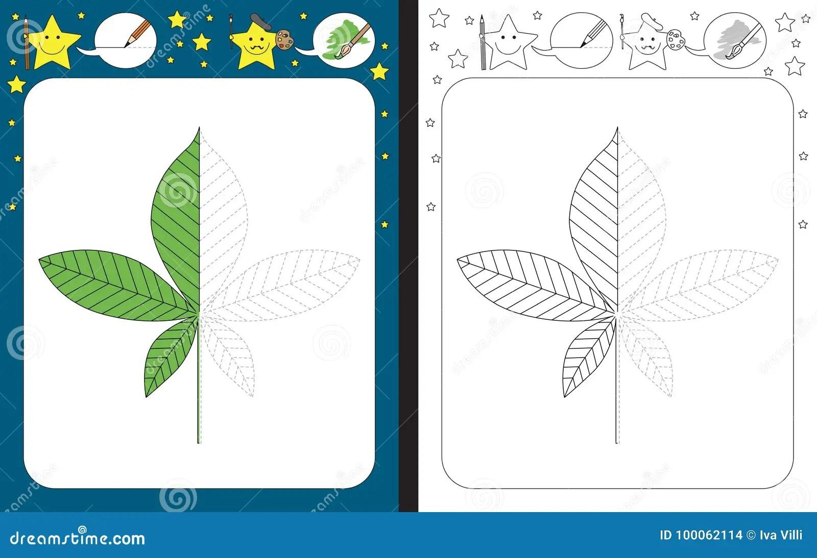 Preschool Worksheet Stock Vector Illustration Of Green