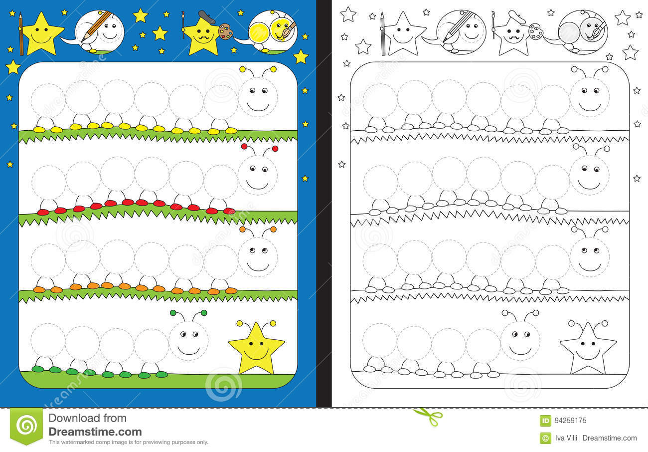 Preschool Worksheet Stock Illustration Illustration Of