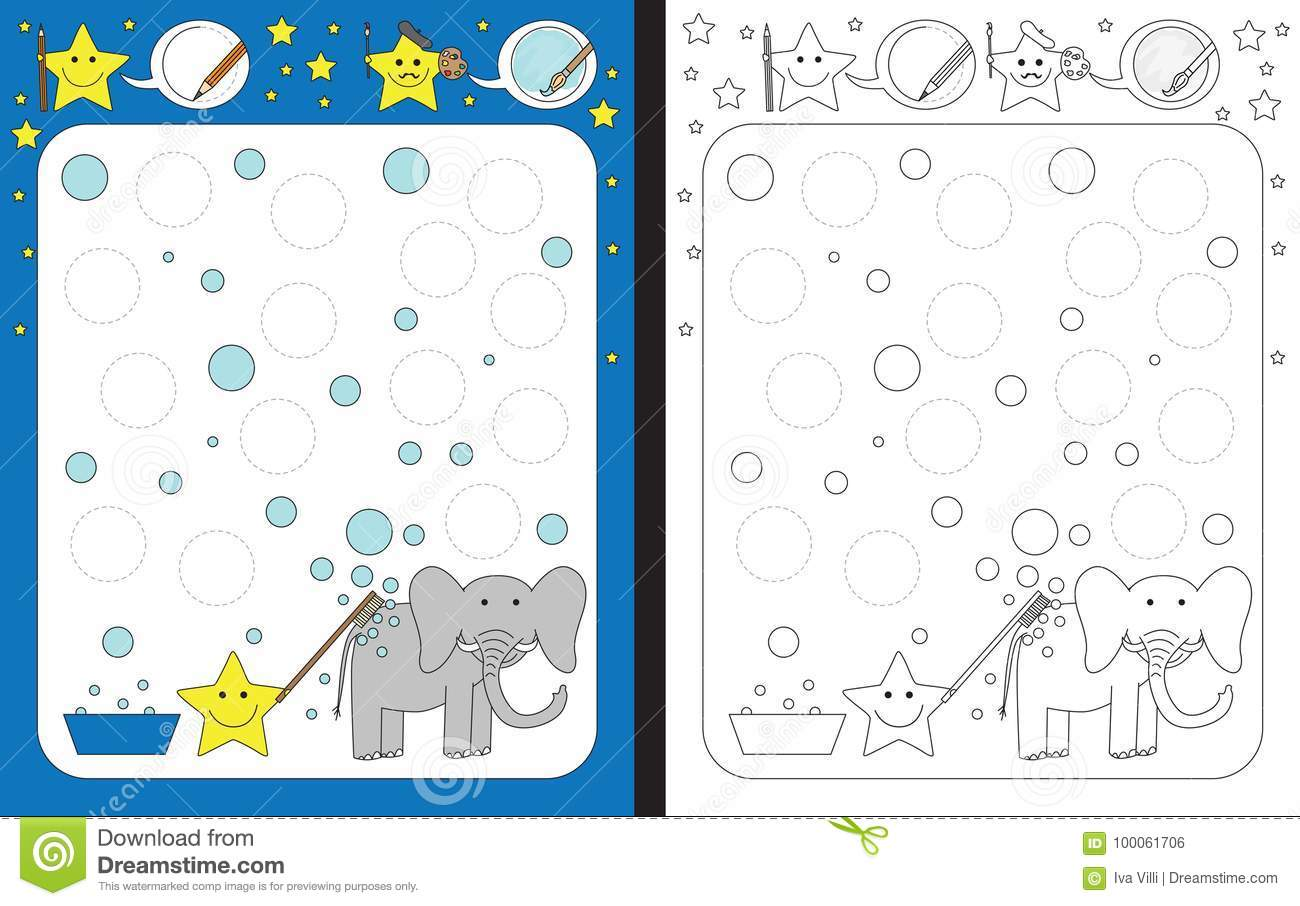 Elephant Worksheet Preschool Paint
