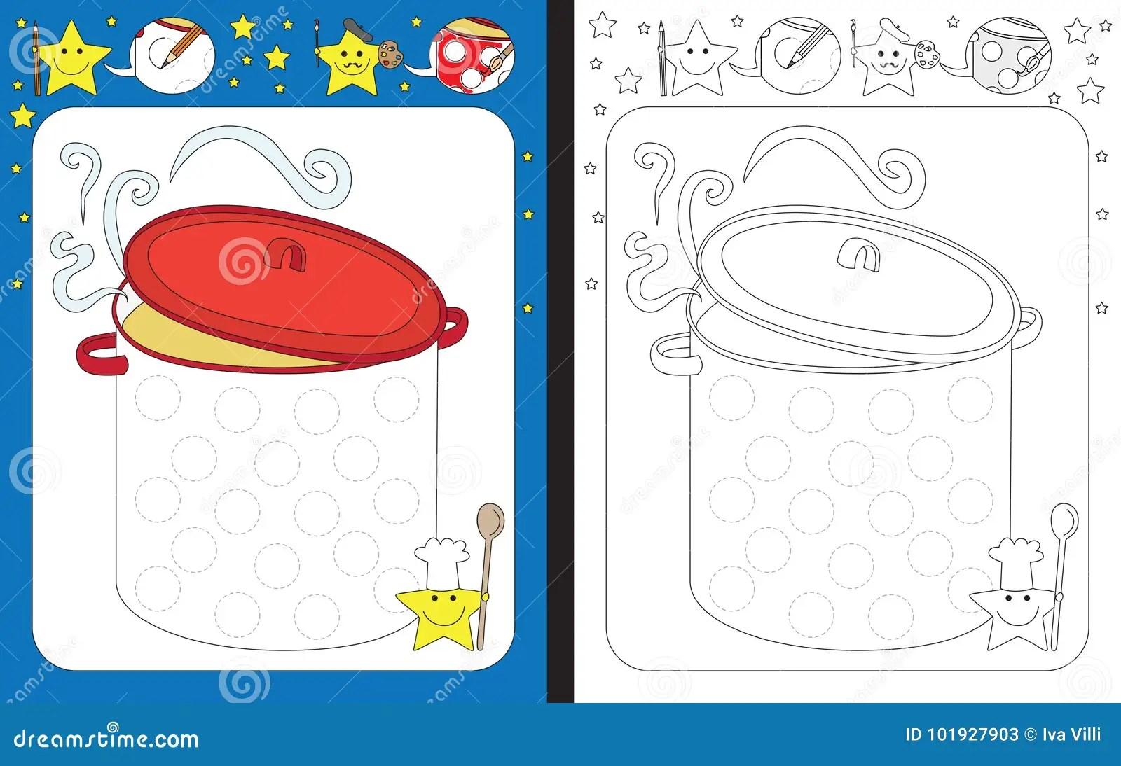 Preschool Worksheet Stock Vector Illustration Of Cooking