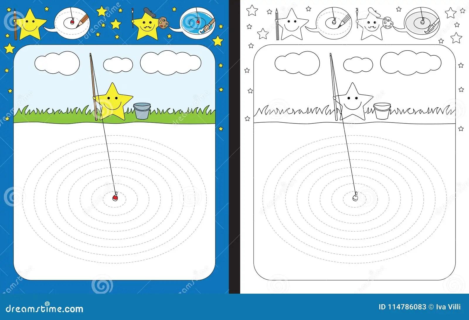 Preschool Worksheet Stock Vector Illustration Of Circle