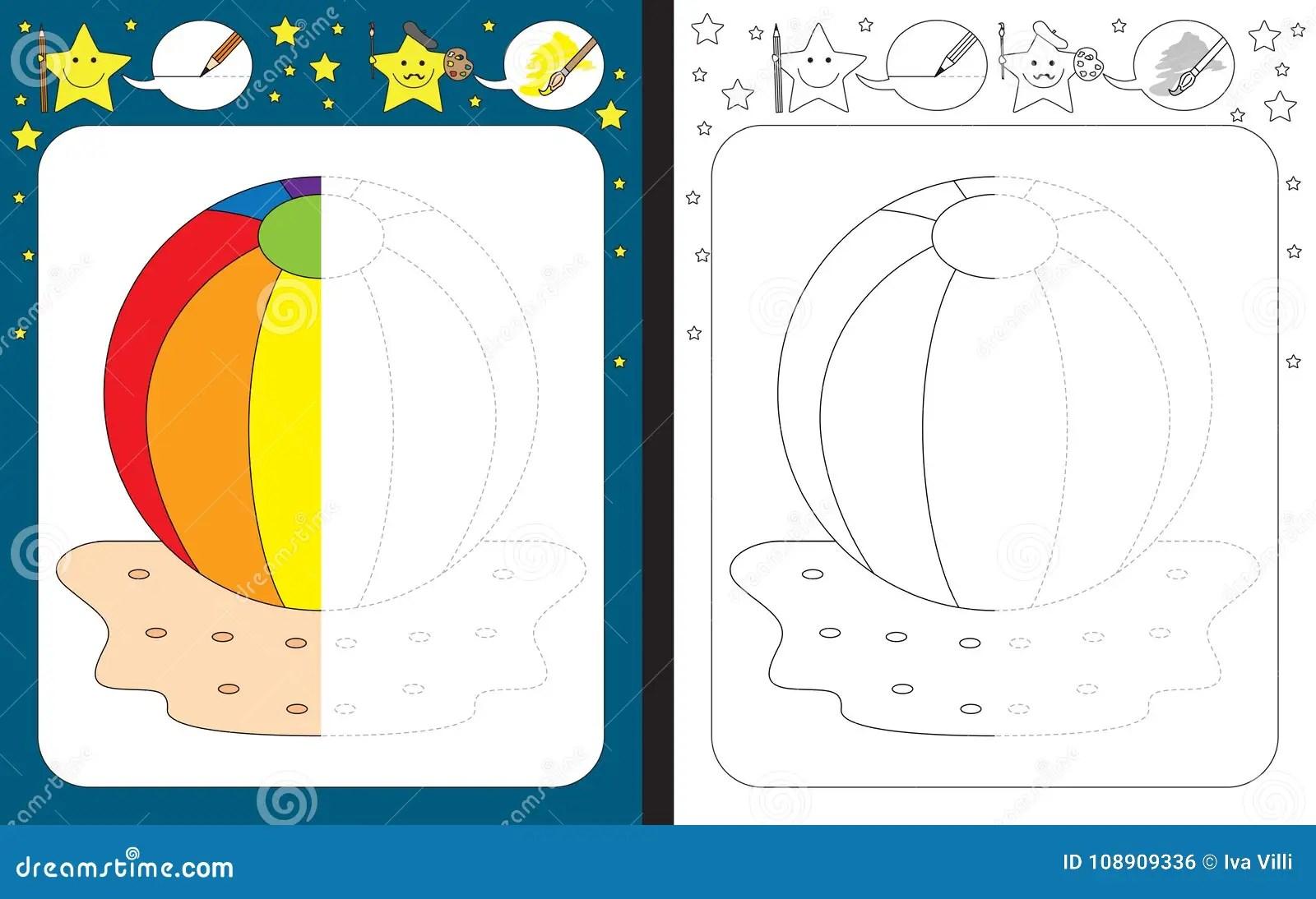 Preschool Worksheet Stock Vector Illustration Of Activity