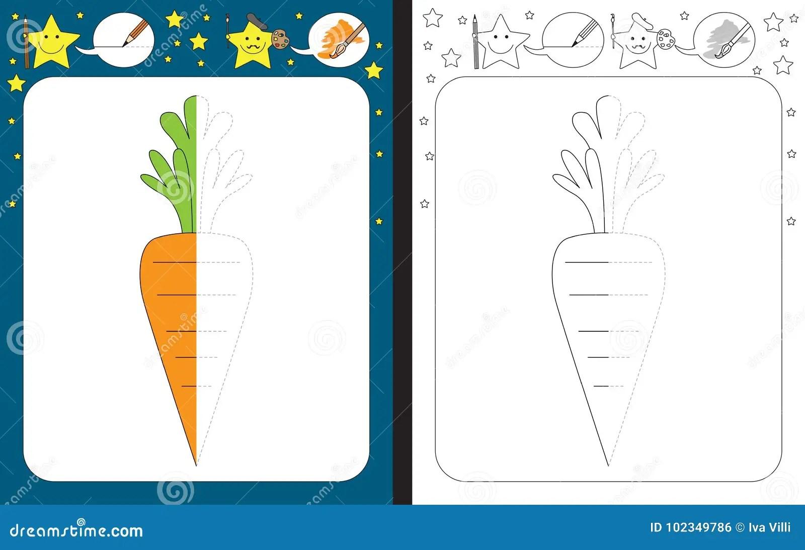 Preschool Worksheet Stock Vector Illustration Of Vector