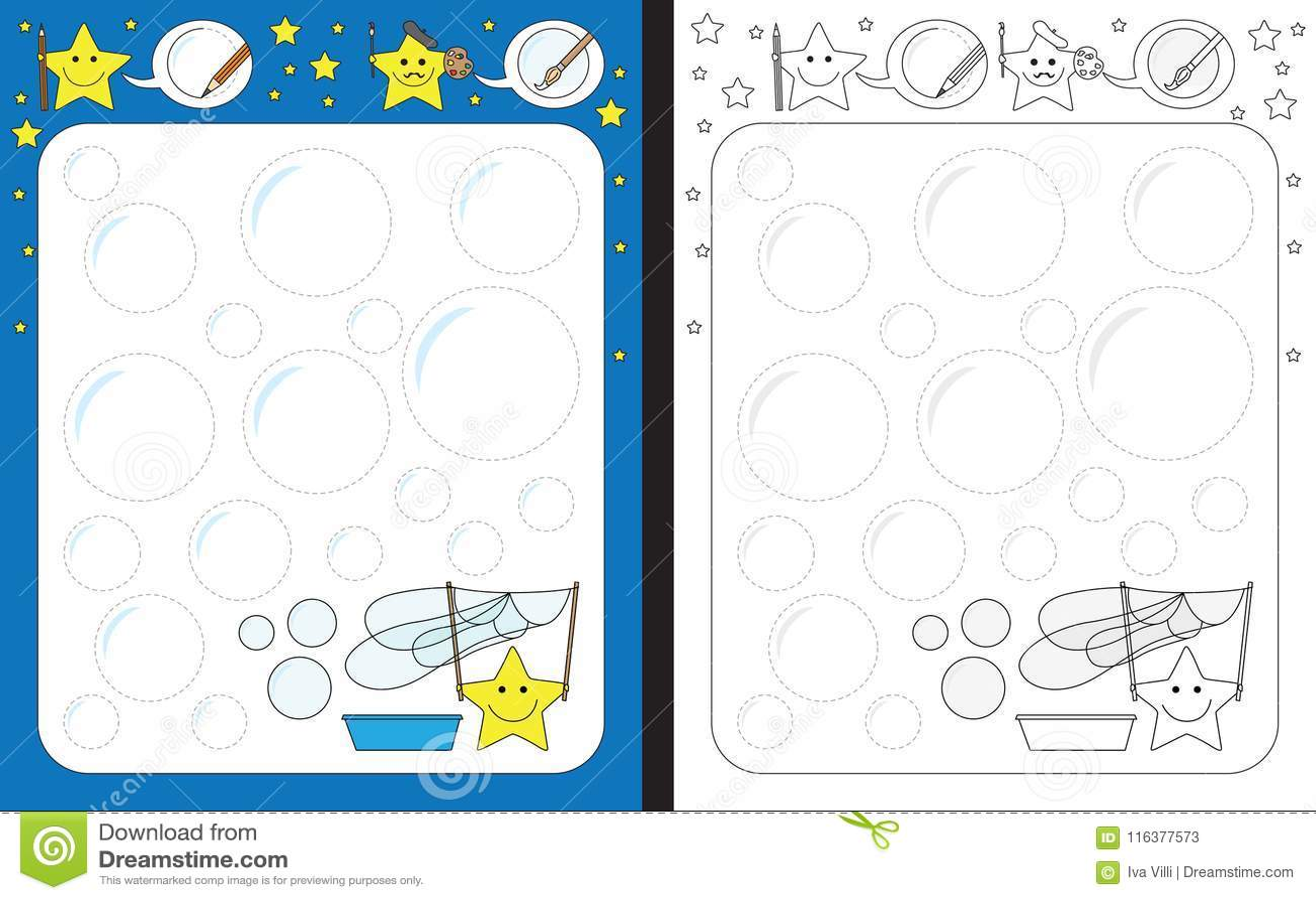 Preschool Worksheet Stock Vector Illustration Of Color