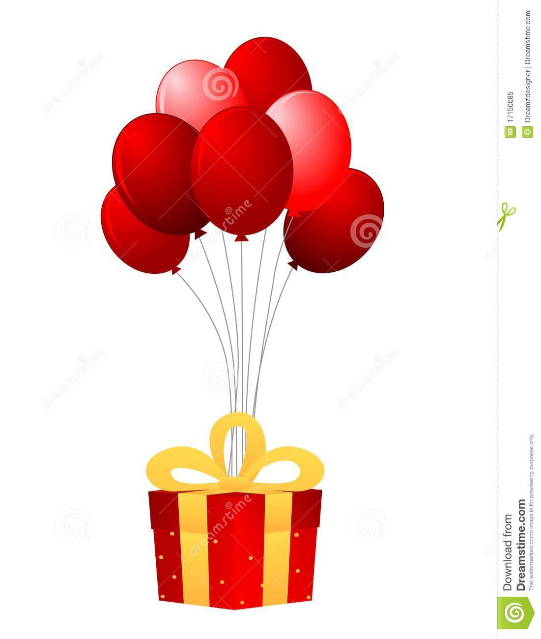 Present And Balloons Royalty Free Stock Photo Image