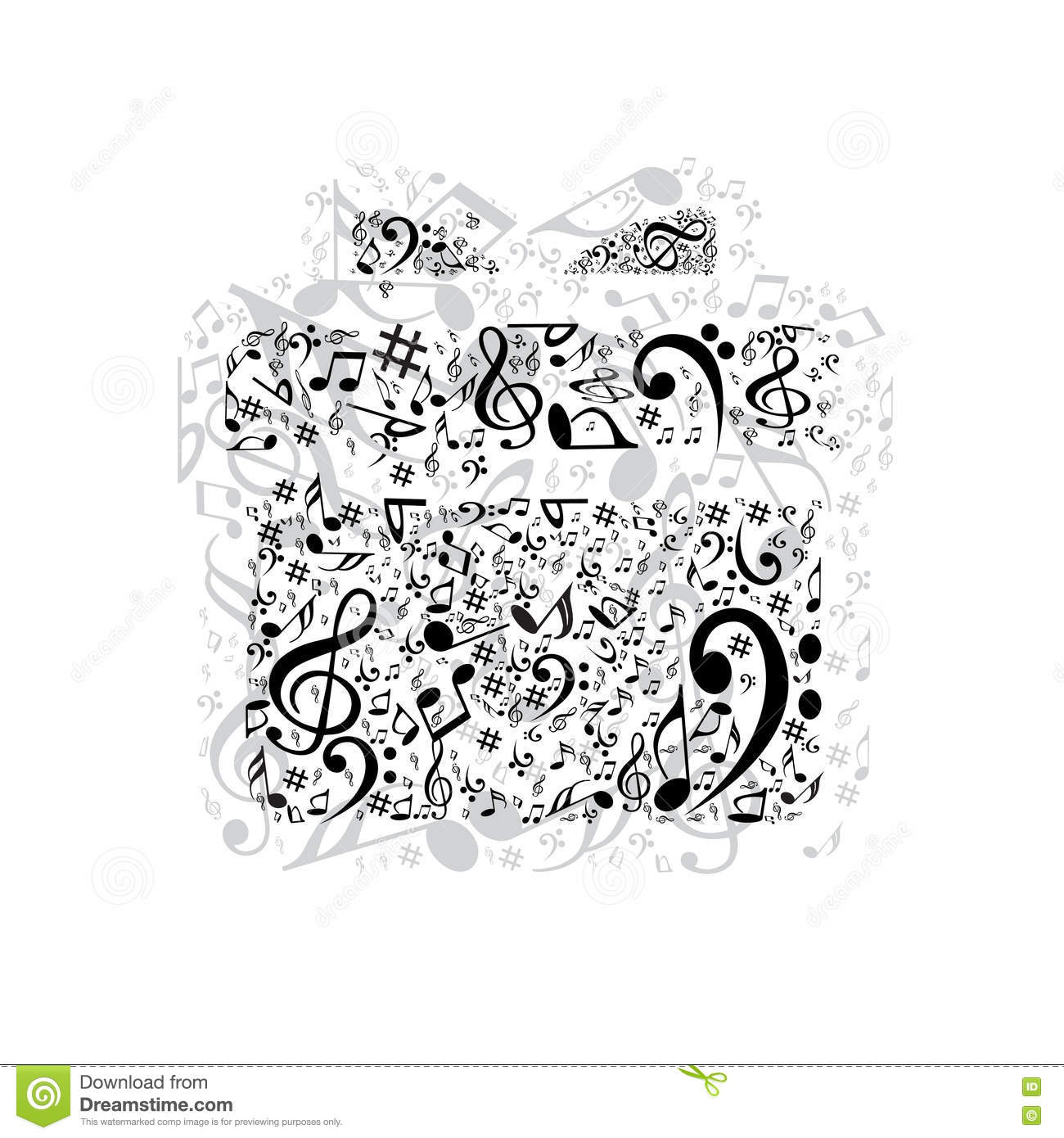 Present stock vector. Image of background, liens, icon