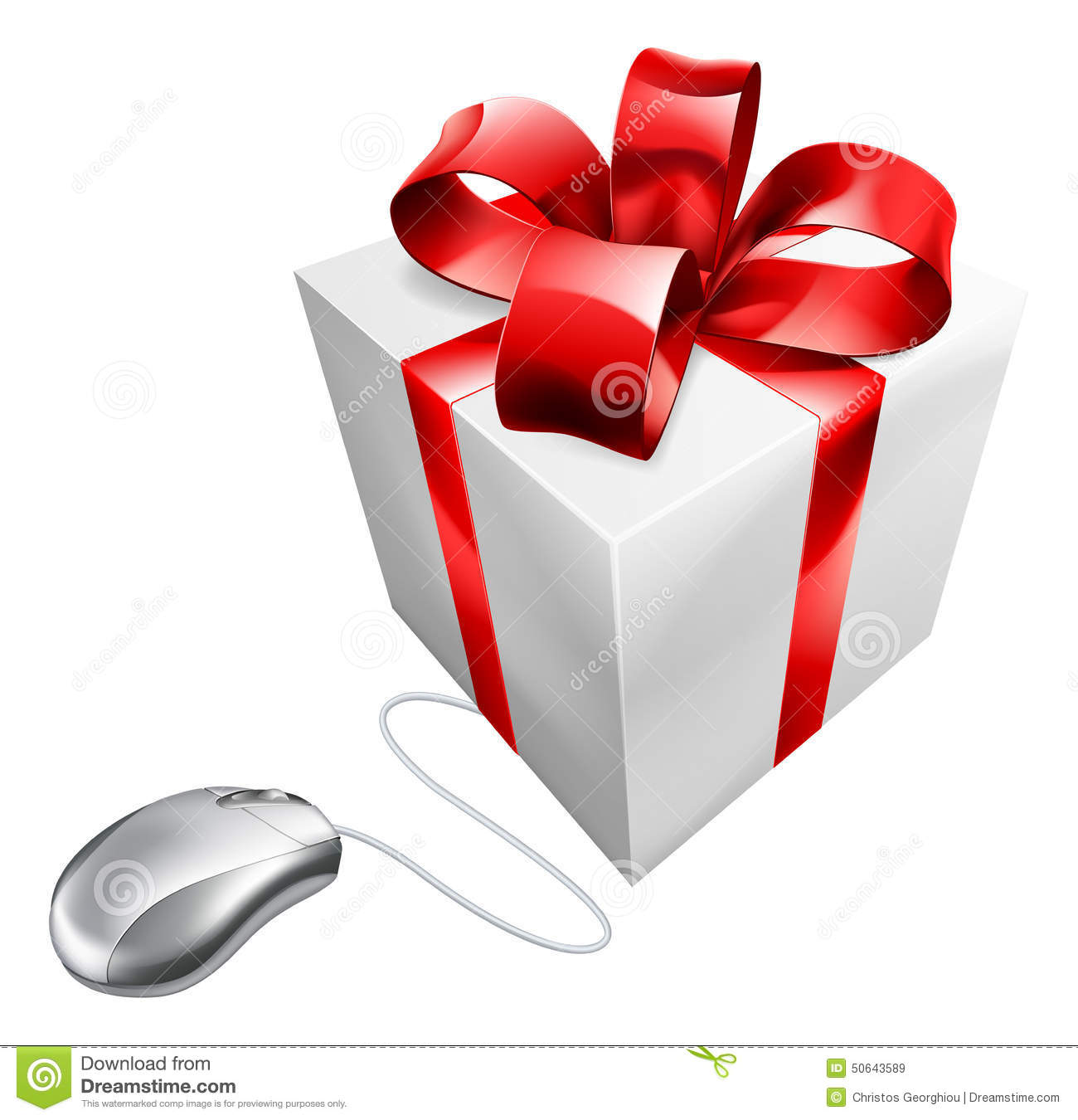 Present Mouse Internet Gift Shopping Stock Vector Image