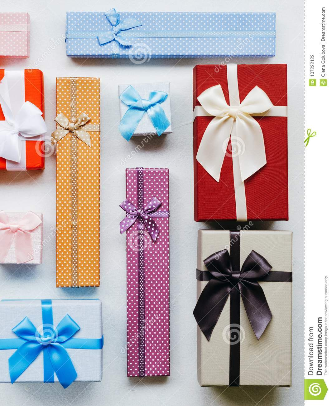 Present Wrapping Craft Creative Idea Boxes Design Stock Photo Image Of Decoration White 107222122