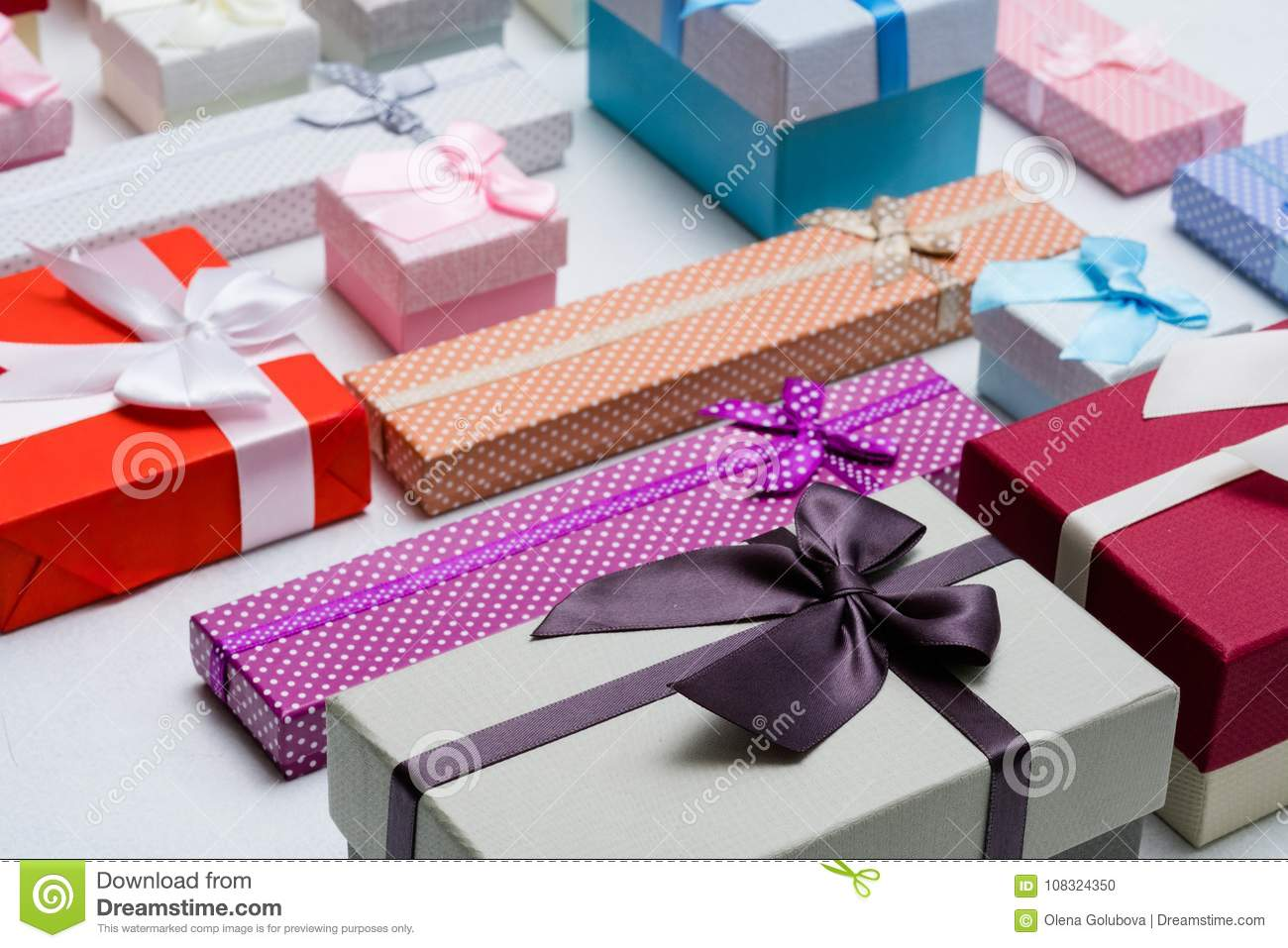 Present Wrapping Craft Creative Idea Boxes Design Stock Photo Image Of Object Present 108324350