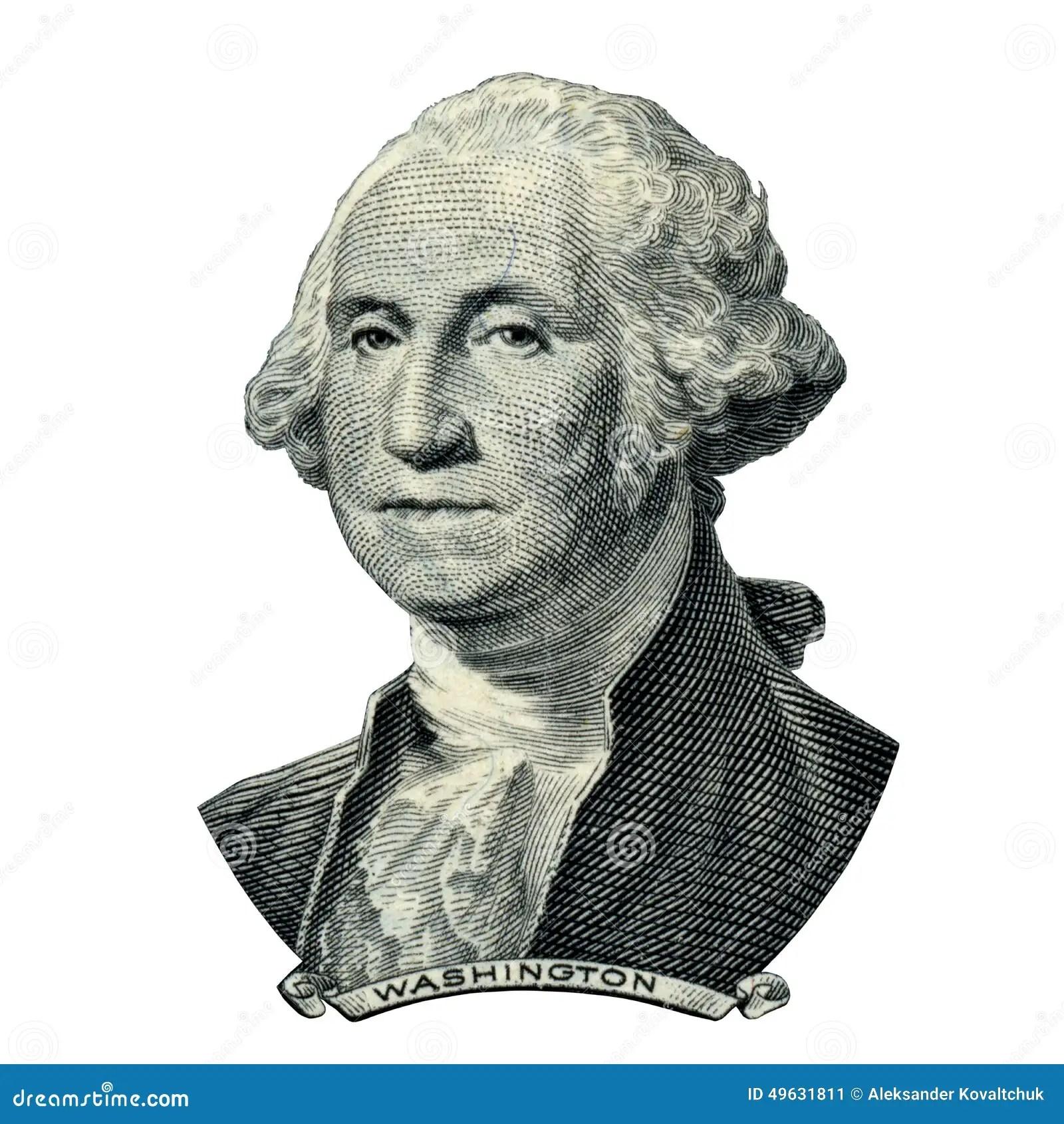 President Washington George Portrait Clipping Path Stock