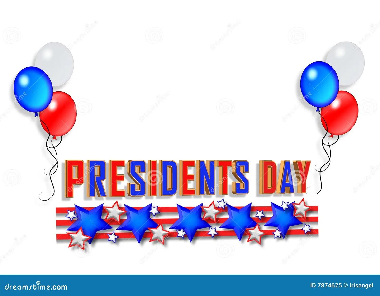 Presidents Day Background 2 Stock Illustration