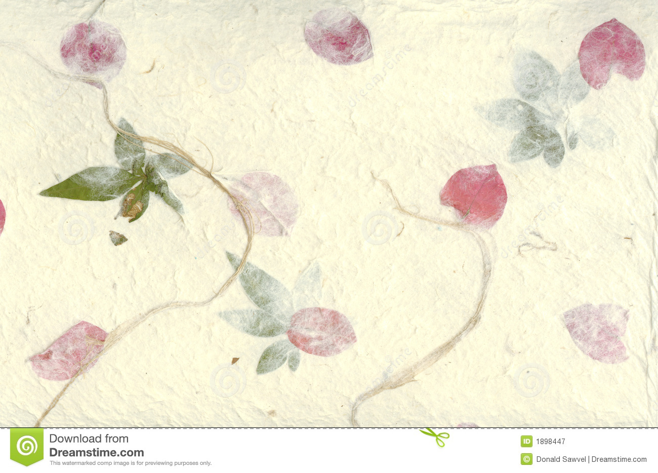 handmade paper with flower petals